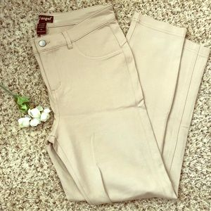 🦉Like an Angel Tan Stretch Skinny Pants XL NWOT